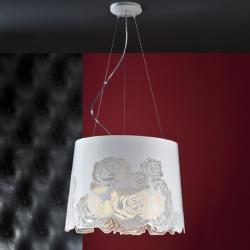Roses Pendant Lamp ø45cm 3xE27 Lacquered white Brillo