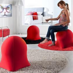 Medusa sillón Puf Rojo