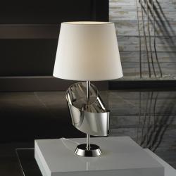 Lazo Table Lamp Nickel lampshade Cream