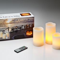 Vela LED Set 3 avec télécommande a Distancia Velas LED