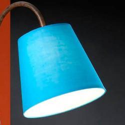 lampshade Blue lámpara of Floor Lamp Alma