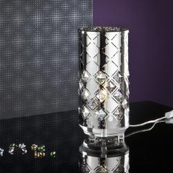Alexia Table Lamp steel and Glass