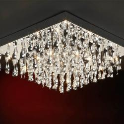 Espiral ceiling lamp Square 12 lights G9 42w bright chrome