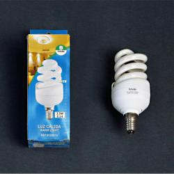 Fluorescent energy saving light bulb opal E14 spiral 13W 3000Kº