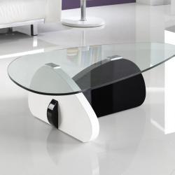 Zima mesa de centro color blanco/negro