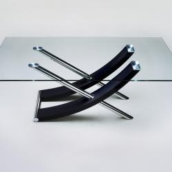 Ulises table basse couleur Chrome/Noir
