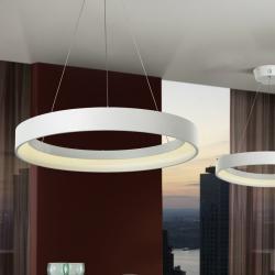 Cronos Lámpara Colgante ø60 LED 38W Blanco mate texturizado