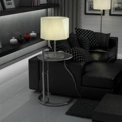 Timor Table Lamp LED 20W with white lampshade