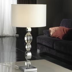 Domine Lampe de table Chrome Verre