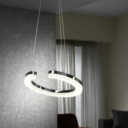 On Pendant Lamp LED 24W Chrome
