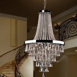 Palace Lámpara Colgante ø80 22xG9 LED 4W Cromado y cristal