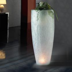 Astrid 120 planteur avec lumière LED poliresina