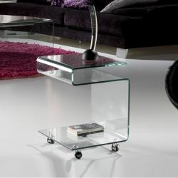 Glass table auxiliaire Transparent