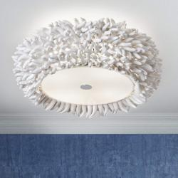Xenia Plafón ø45 E27 4x20W Blanco porcelana