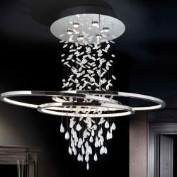 Bruma Pendant Lamp 6L LED 3W + tira LED 82W Chrome