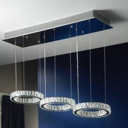 Debra Pendant Lamp LED 27W Chrome