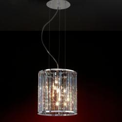Stela Lámpara Colgante Cuadrada 7L Cromo brillo/Cristal Asfour