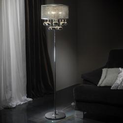 Andrómeda lámpara de Lampadaire 5L Chrome
