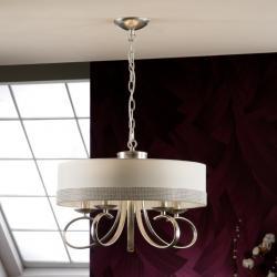 Adela Pendant Lamp 40x50cm 5xLED 4W - Silver Leaf