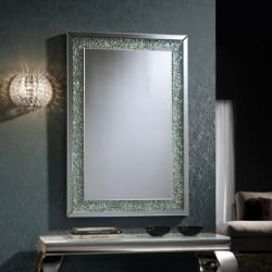 Amaya espejo 120x80cm Gemas de cristal transparente