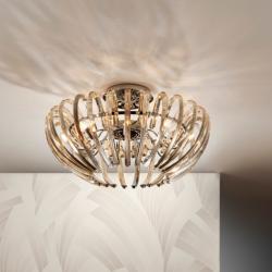 Ariadna ceiling lamp 9xG9 LED 4W Champagne