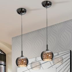 Arián Lampe Suspension brillo 1L G9 LED 4W verre miroir