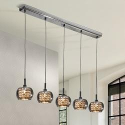 Arián Lampe Suspension linéaire brillo 5L G9 LED 4W verre miroir