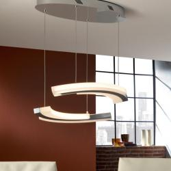 Aruma Lamp Pendant Lamp LED 38.4W Chrome