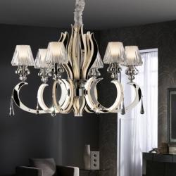 Atenas Lampe Suspension 65x80cm 6xE14 LED 4W - acier brillo