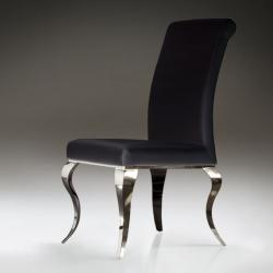 Barroque chair steel black