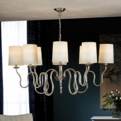 Briana Lamp Pendant Lamp 62x111cm 8xLED 4w - Silver Leaf and Niquel Satin