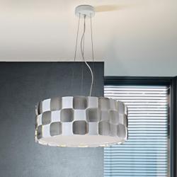 Coras Suspension 6L E27 LED 10W blanc mat et Chrome
