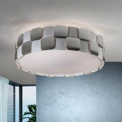 Coras plafonnier 6L E27 LED 10W blanc mat et Chrome