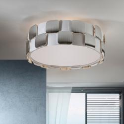 Coras plafonnier 4L E27 LED 10W blanc mat et Chrome