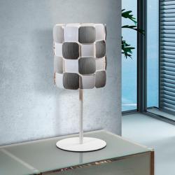 Coras Lampe de table 1L E27 LED 10W blanc mat et Chrome