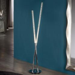 Cosmo Floor Lamp 2x14W LED bright chrome