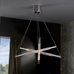 Cosmo Pendant Lamp 6x30W LED bright chrome