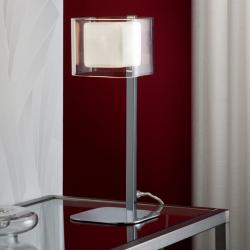 Cube Lampe de table 1 L G9 28W Chrome