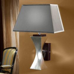 Wall Lamp Deco Silver with lampshade