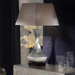 Deco Table Lamp Large E27 60W Silver bread