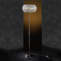 Diamond Floor Lamp 6 G9 LED 4W Chrome/Copens Glass