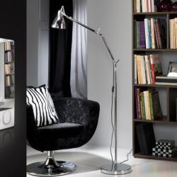 Ergo Floor Lamp Chrome E27 LED 5,5W