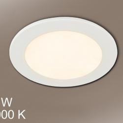 Foco Redondo + LED 18W luz blanca