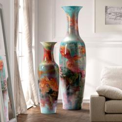 Goldfish Vasija Grande 185x50cm - ceramica pintada a mano