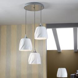 Helike Pendant Lamp Round LED E27 3x20W Bright white