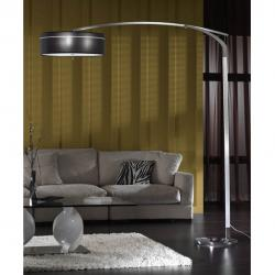 Ibis Lampadaire Plein abat-jour noir 3L E27 LED 10W