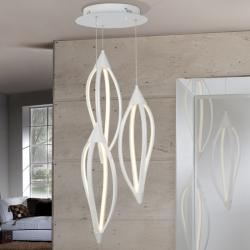 Ignis Lampe Suspension 60x43cm LED 39w - blanc Brillo