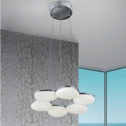Ikal Lámpara Colgante LED 43W - Cromo