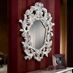 Juliette espejo Blanco y pan de oro