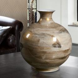 Koi Vasija Grande 44x41cm - ceramica pintada a mano